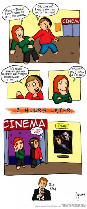 Funny photos funny Twilight movie theater