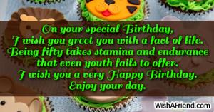 Happy 50th Birthday Sayings
