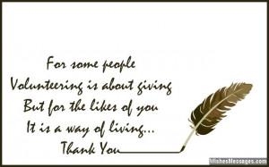 Volunteer Appreciation Thank You Quotes
