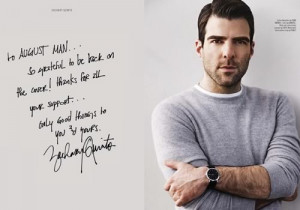 Zachary Quinto Enters The Dark Side For August Man