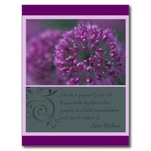 The Color Purple Quote Postcard