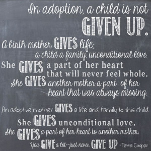 Adoption quote-how I feel about adoption.
