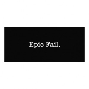 Epic Fail Quote - Fail. Slang Quotes Personalized Invite