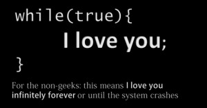 Are there any romantic programming/programmer quotes?