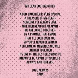 For My Goddaughter
