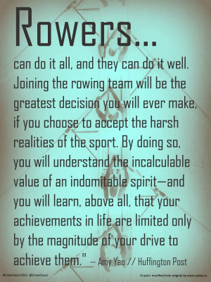 Awesome #rowing quote from Amy Yao, guest contributor to The ...