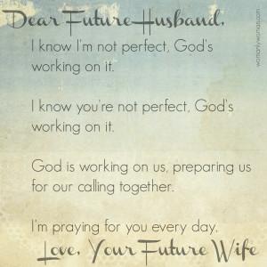 Dear Future Husband,