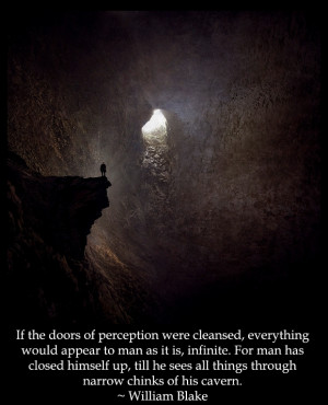 If the doors of perception were cleansed, everything would appear to ...