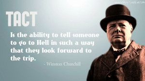 Winston Churchill: Tact