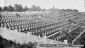 ... 5m US soldiers died in the War; above, Arlington Cemetery