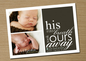 Baby Announcement: Baby Girl, Baby Boy Printable Birth Announcement ...