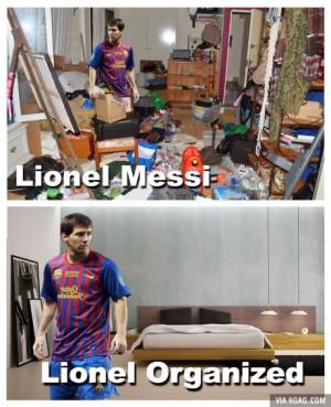 Lionel Messi and Lionel Organized