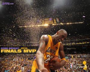 Kobe Bryant MVP NBA Finals 2010 Wallpaper (Inspirational Basket Ball ...