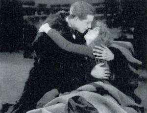 "Lillian Gish y Richard Barthelmess en ""Las dos tormentas"", 1920"