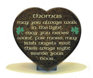 Beautiful celtic memorial poem