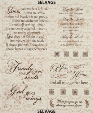 Old Country Store Fabrics - Religious Sayings