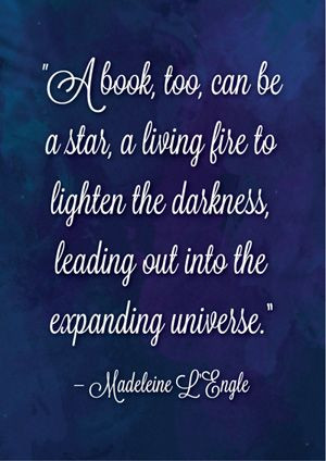 ... , leading out into the expanding universe. – Madeleine L'Engle