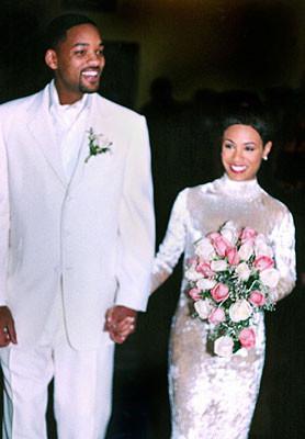 Jada Pinkett and Will Smith at Their Wedding