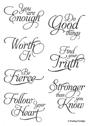 ... stamps - Sayings Quote Quotes for art journaling scrapbooking ATCs