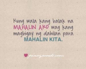 Pinoy Quotes Mahalin Ako Tagalog