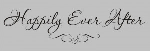 HAPPILY EVER AFTER Wedding Vinyl Wall Quote Decal NEW!