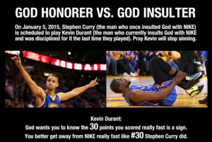 ... on January 5th. Steph Curry at 19. The Lord works in mysterious ways