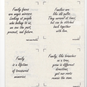 Talking Quilts Mini Family Quotes