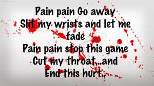 Quotes About Cutting Yourself Emo
