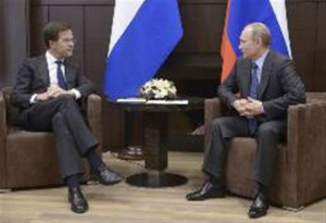 ... Mark Rutte at the Bocharov Ruchei state residence in Sochi February 7