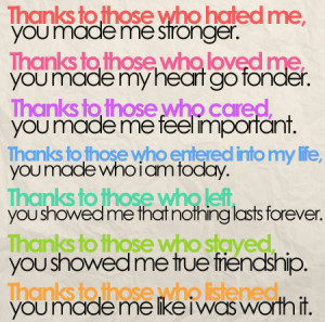 ... your whole life was thank you that would suffice thank you quotes