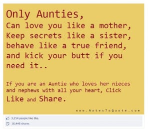 With over 15,000 shares, aunties are serious about the role they play ...