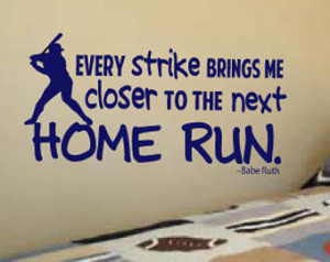 Babe Ruth Baseball Quote