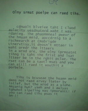 Only Smart People Can Read This | Funny Quote