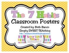 The 7 Habits of Happy Kids Classroom Posters More