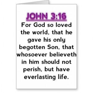 Bible Verses - John 3.16 KJV Greeting Cards