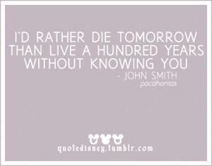 quotes about love pocahontas quotesgram
