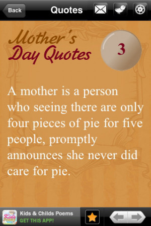 Inspirational Quotes Mothers Pic #14