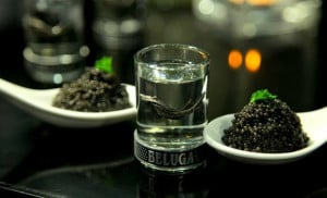 ... Beluga & Caviar de Duc Restaurant & Ice Bar: Beluga Vodka and Caviar