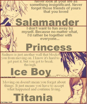 The 4 main characters. Anime: Fairy Tale