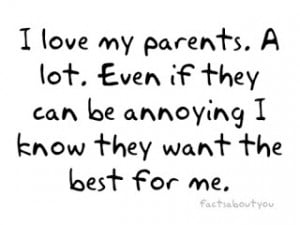 We never know the love of our parents for us until we have became ...