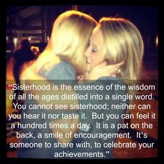 Sorority quote from the Delta Epsilon Chapter of AOII Alpha Omicron Pi ...