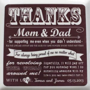 Parent Wedding Gift from Bride & Groom Thank by SayAnythingDesign, $65 ...