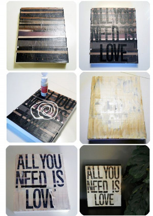 DIY Tuesday: Quotes on Canvas