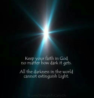 Darkness can't cover light