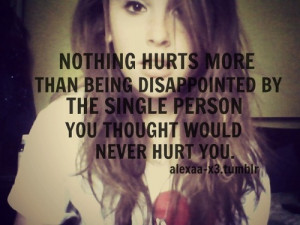being a disappointment quotes