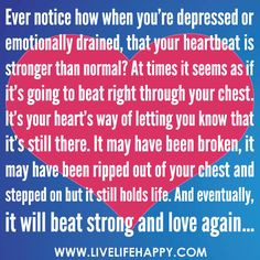 ... quotes, beating depression quotes, inspir, how to let go quotes, heart