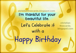 Birthday. Free birthday card for man, woman, child, free nice quotes ...