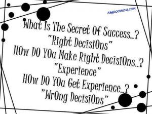 secret of success?