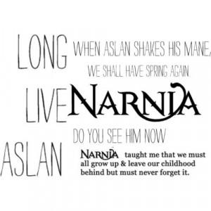 miss Narnia. I miss Aslan. I miss the Pevensies. I miss them all.