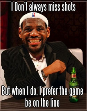 LeBraterade: Mildly Funny LeBron Dos Equis Guy Photo